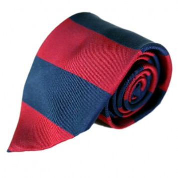 Bar Stripe Gent Tie -Navy & Red